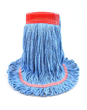 Premier Super Loop™ Antimicrobial Looped-End Wet Mop - Blue Wet Mops