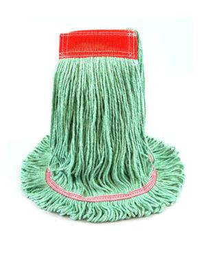 Premier Super Loop™ Antimicrobial Looped-End Wet Mop - Green