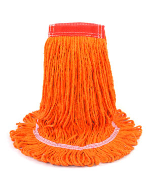 Premier Leader Loop Looped-End Wet Mop - Orange Wet Mop