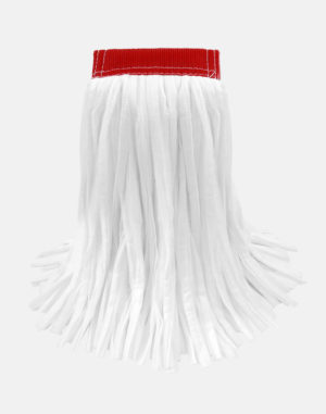 "Ultra Sorb Cut-End Wet Mop (5"" Headband) - Non-woven Rayon. polyester blend. No break-in required. Super absorbent, lint free. Works on rough surfaces Launderable"