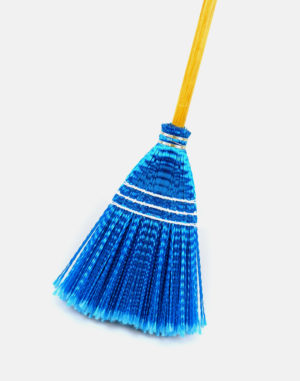 Premier Lobby Plastic Broom - Blue - Best Floor Cleaning Products