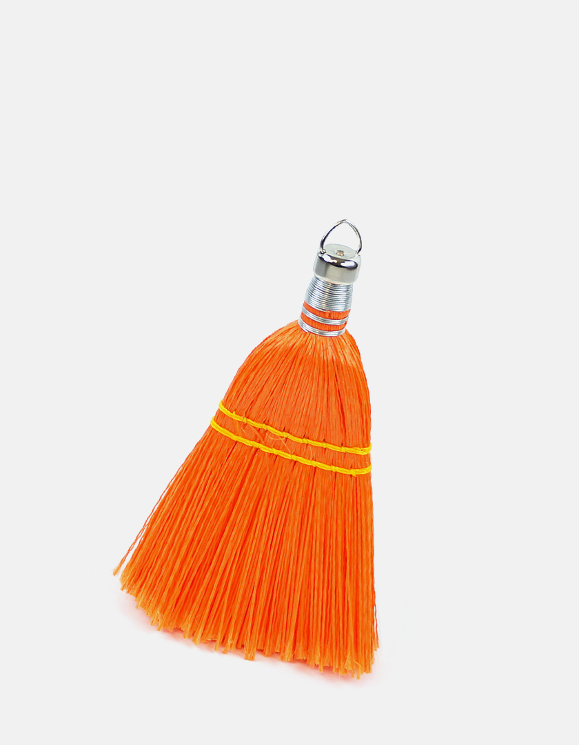 Premier Whisk Plastic Broom - Orange - Made in USA