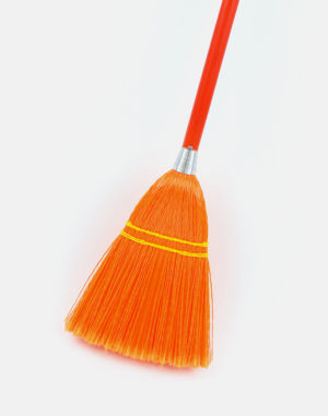 Premier Toy Plastic Broom - Orange - Made in USA